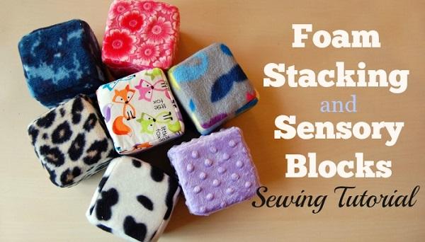 Tutorial: Fleece stacking blocks for baby