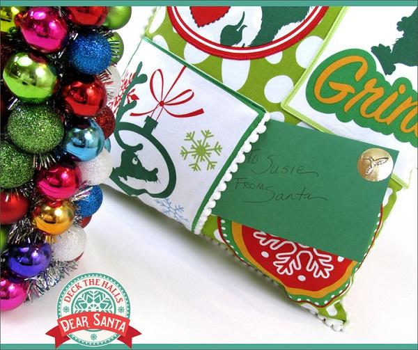 Tutorial: Letter to Santa Christmas pocket pillow