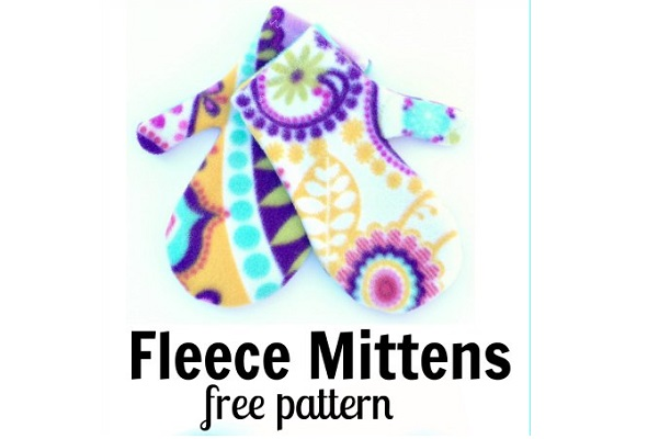 Free pattern: Easy fleece mittens