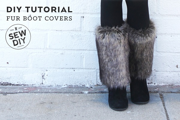 Tutorial: Faux fur boot covers