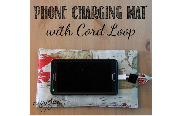 Tutorial: Phone charging mat with a cord loop