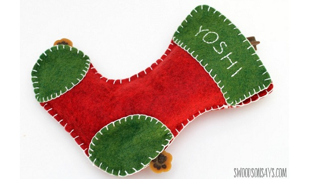 Tutorial: Dog treat Christmas stocking toy