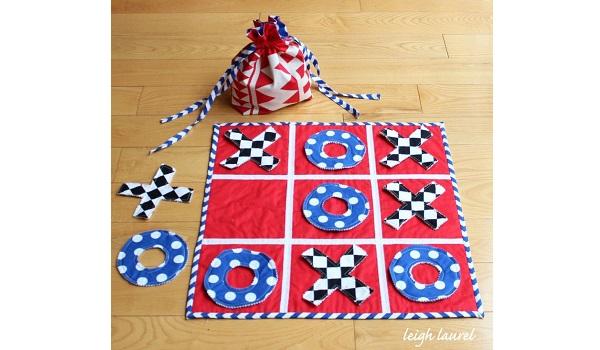 Tutorial Fabric Tic Tac Toe Game Sewing