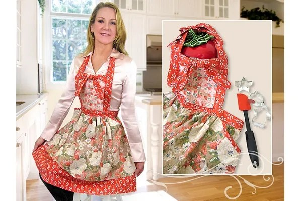 Tutorial: Double flounce apron with a knotted bow bib