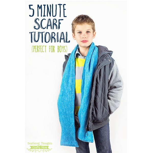 Tutorial: 5 minute winter scarf for boys or girls