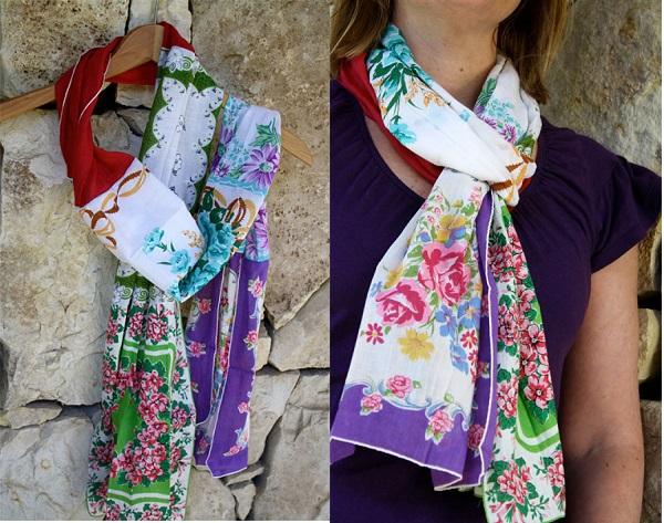 Tutorial: Vintage handkerchief scarf
