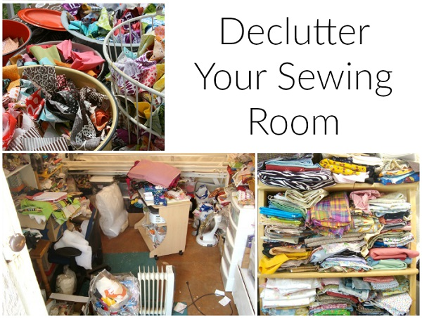 Practical tips for decluttering a messy sewing space