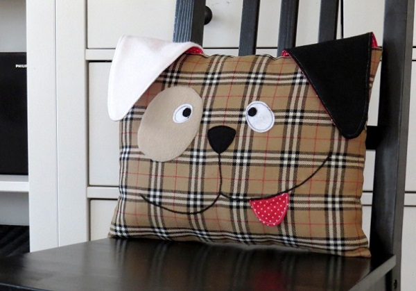 Free pattern: Cute puppy throw pillow