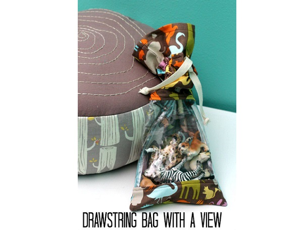 Tutorial: Drawstring bag with a window