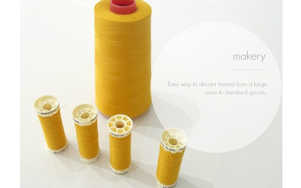 Tutorial: Refill your empty thread spools from a large thread cone