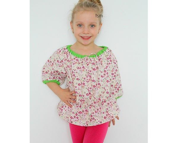 Free pattern: Little girls' peasant top