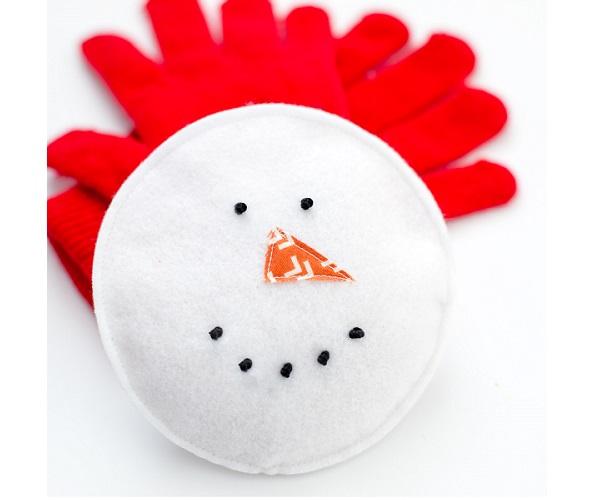 Tutorial: Snowman hand warmers