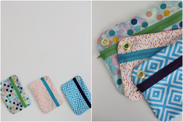 Tutorial Hanging Zipper Pouches Sewing