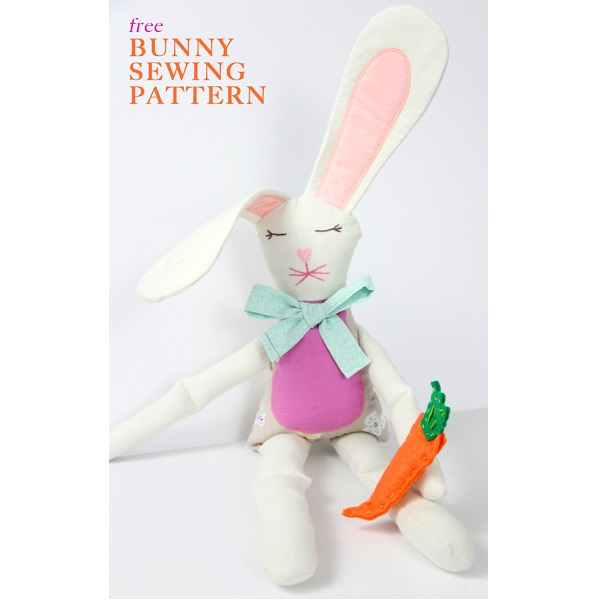 Free pattern: Easter Bunny soft doll