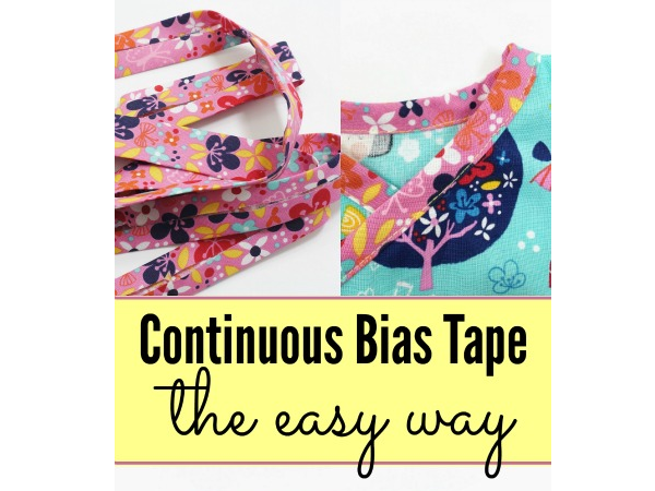 Tutorial: Easy way to make continuous bias tape