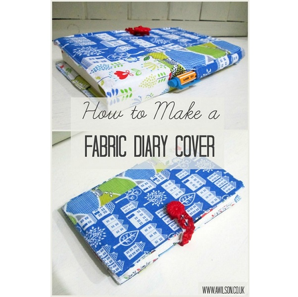Tutorial: Fabric journal cover with a pen pocket