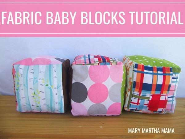 Tutorial: Soft fabric baby blocks