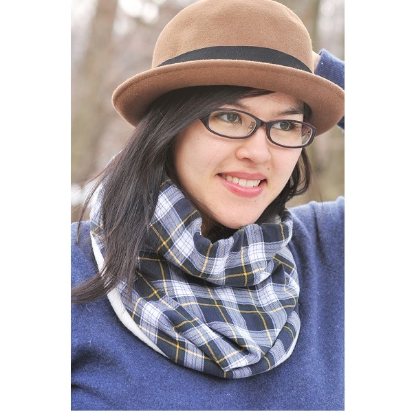 Tutorial: Flannel and fleece neck warmer