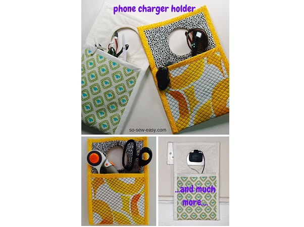 Tutorial: Easy phone charger or sewing notion holder