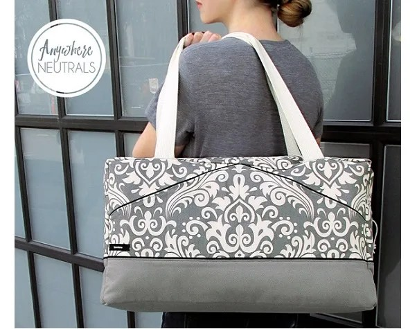 Tutorial: Boxy duffle tote