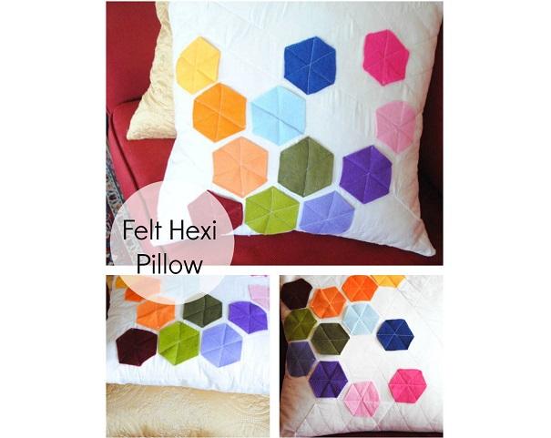 Tutorial: Felt hexi pillow cover