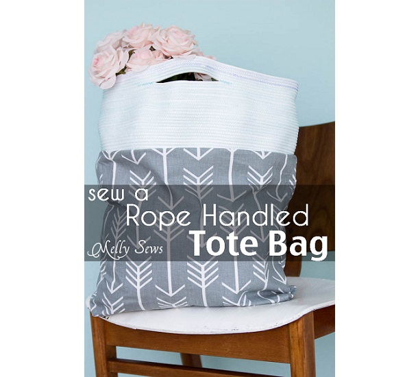 Tutorial: Coiled rope handle tote bag