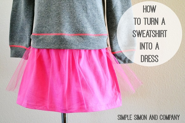 Tutorial: Easy sweatshirt dress
