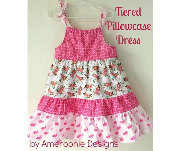 Tutorial: Little girls tiered pillowcase dress