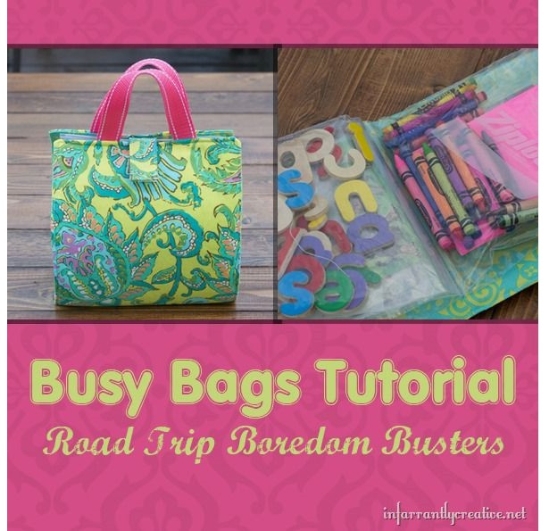 Tutorial: Super easy busy bag with baggie pockets