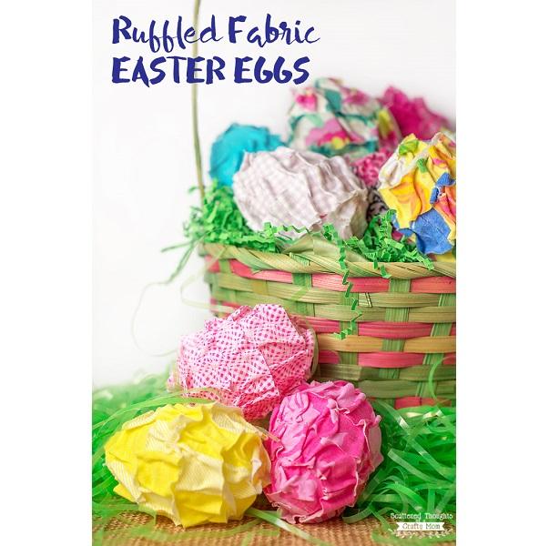 Tutorial: No-sew ruffled fabric Easter eggs