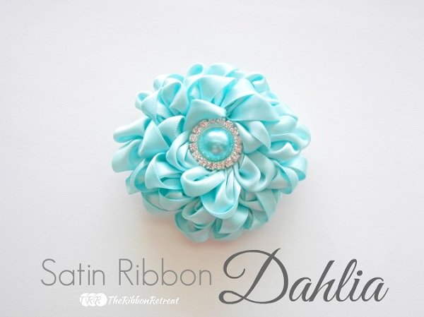 Tutorial: Satin ribbon dahlia