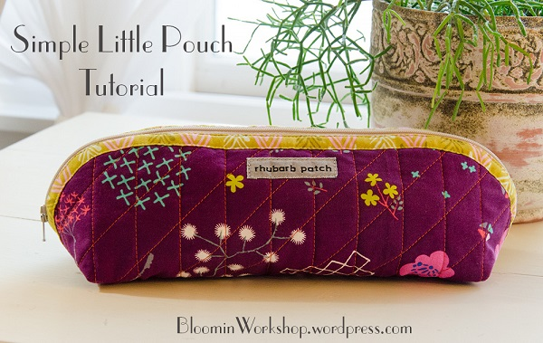Tutorial: Curved top pencil pouch
