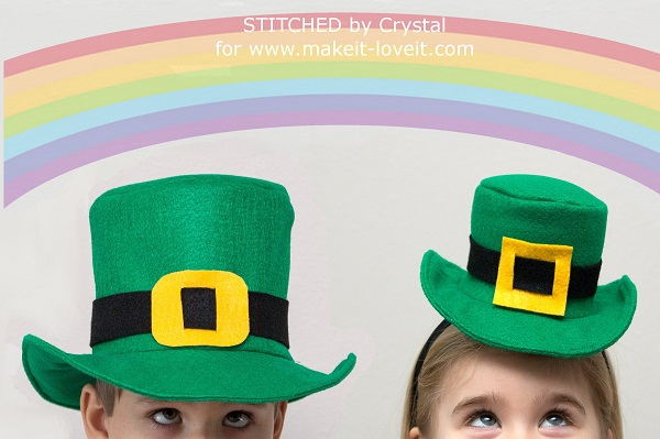 Tutorial: Leprechaun top hat and a mini top hat headband