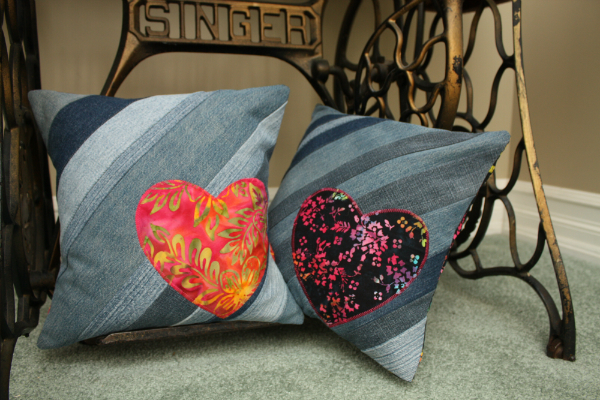 Tutorial: Recycled denim throw pillow cover