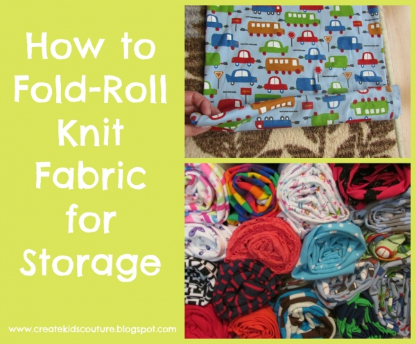 Tutorial: Fold-roll knit and drapey fabrics for efficient storage
