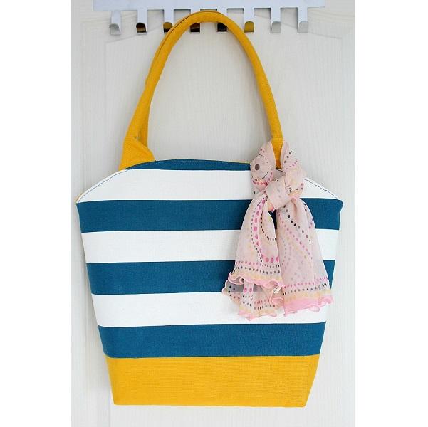 Tutorial: Curved top tote bag