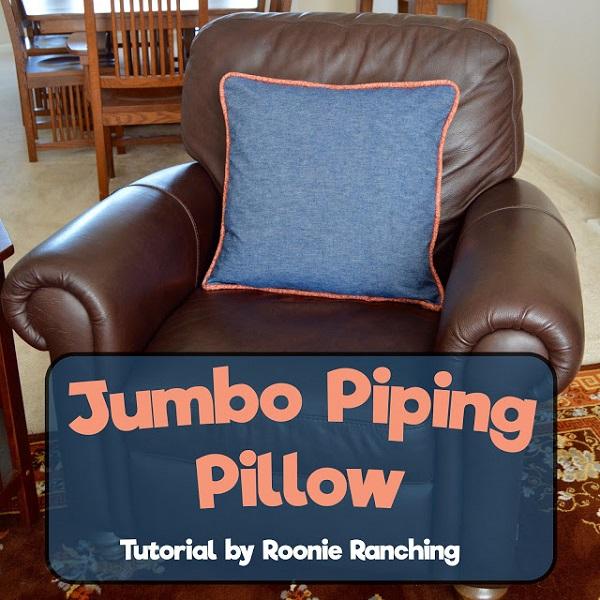 Jumbo Piping Pillow
