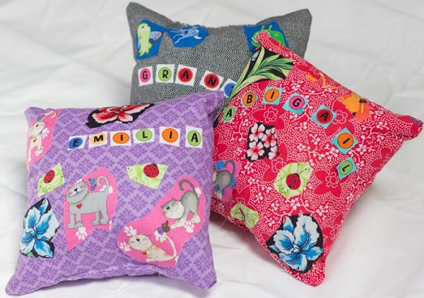 Tutorial: Fusible fabric pillow sewing project for kids