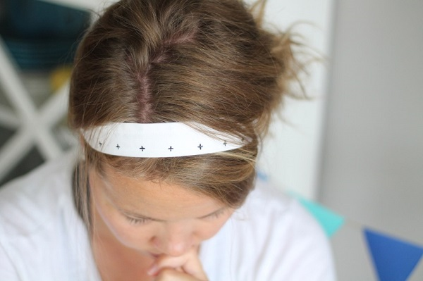 Tutorial: Velvet back fabric headband