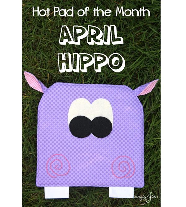 Free pattern: Hippo hot pad