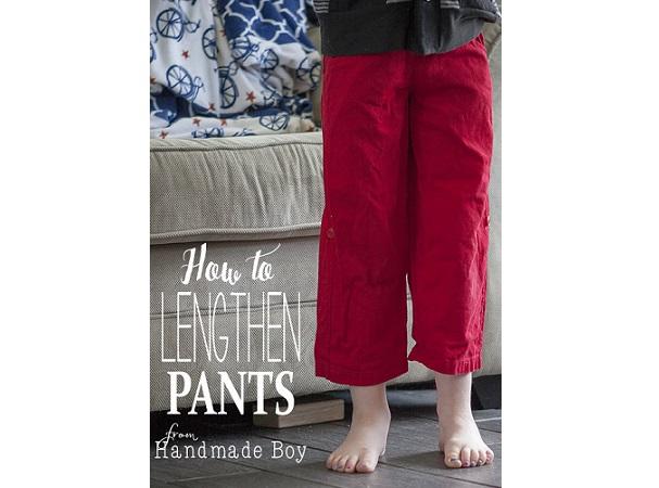 Tutorial: Lengthen an outgrown pair of pants