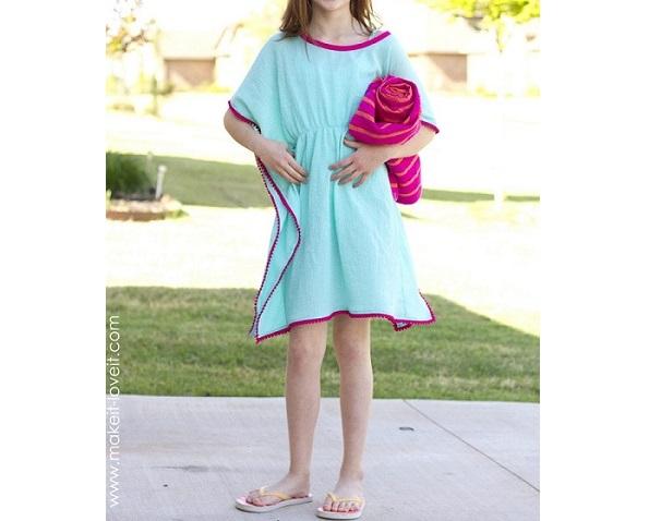 Tutorial Pom Pom Swim Cover Up Sewing