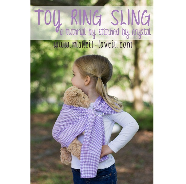 Tutorial: Ring sling doll carrier – Sewing