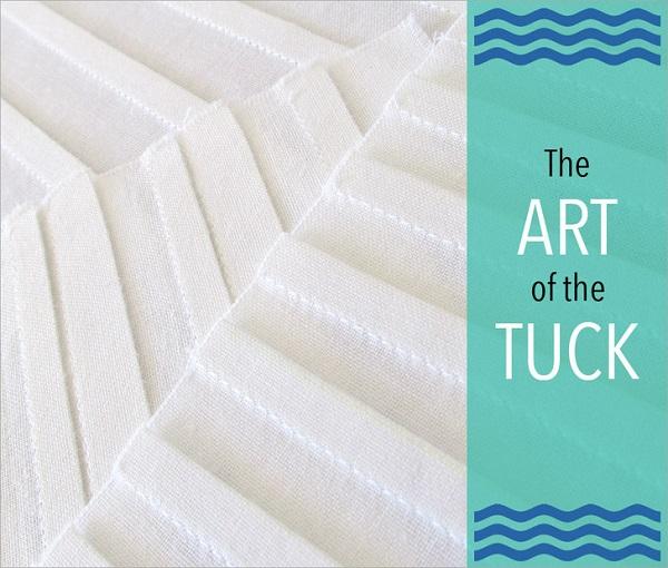 Tutorial: Make narrow tucks with a quarter inch presser foot