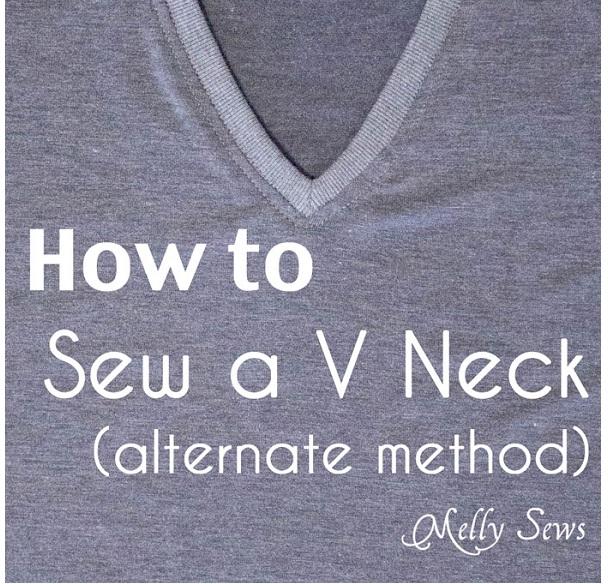 Tutorial: How to bind a V-neck t-shirt