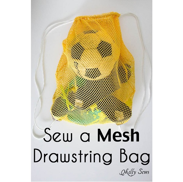 Tutorial: Mesh drawstring soccer bag