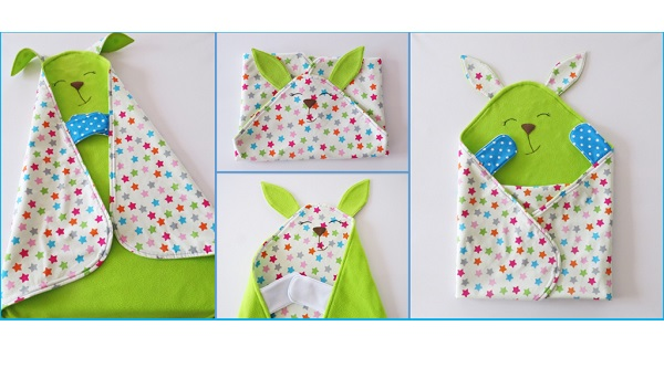 Free pattern: 2 in 1 baby blanket and cuddle toy