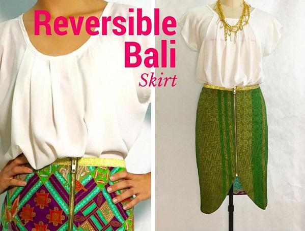 Free pattern: Reversible zipper pencil skirt