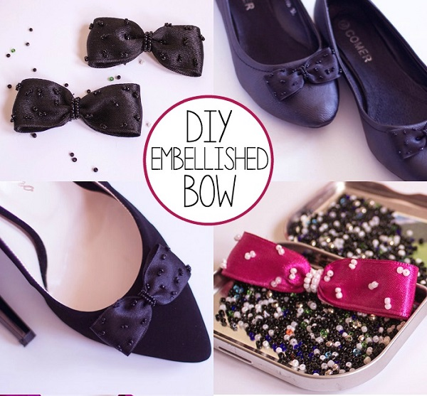 Tutorial: Embellished ribbon bows