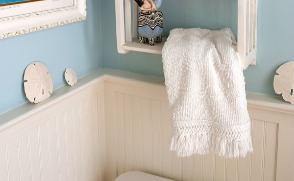 Tutorial: Hand towels from an old candlewick bedspread